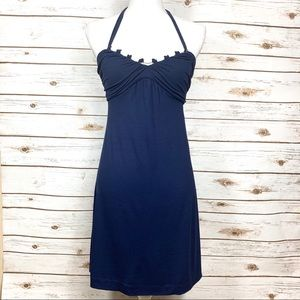 Tommy Bahama Navy Blue Embellished A-Line Dress